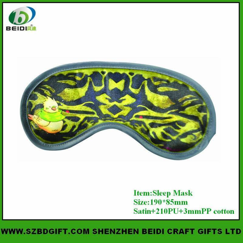 Custom Design Travel Using Sleeping Eye Mask For Airplane Rest
