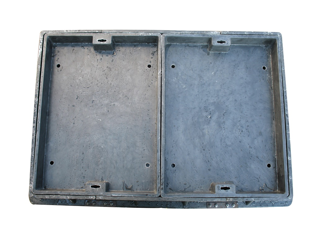 Anti-theft smc bmc composite square manhole cover with CE