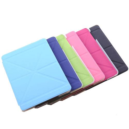 PU leather folding folio case for iPad mini