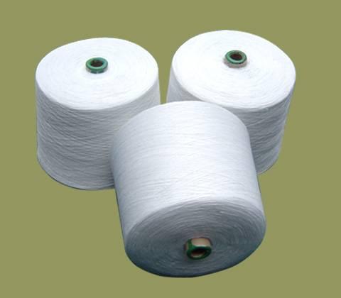 raw white polyester spun yarn