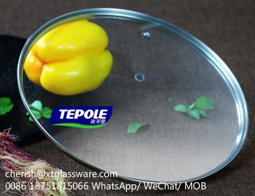 FDA Glass Lids LFGB Tempered Glass Lids Pot Lids Pan Lids