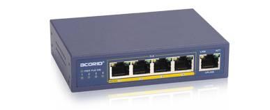 4 Ports PoE (100m) Fiber Ethernet Media Converter