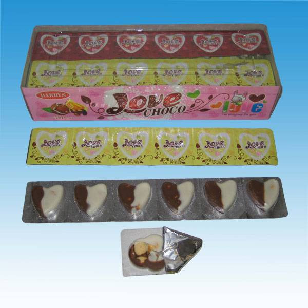 YUB016 Heart Choco Biscuit