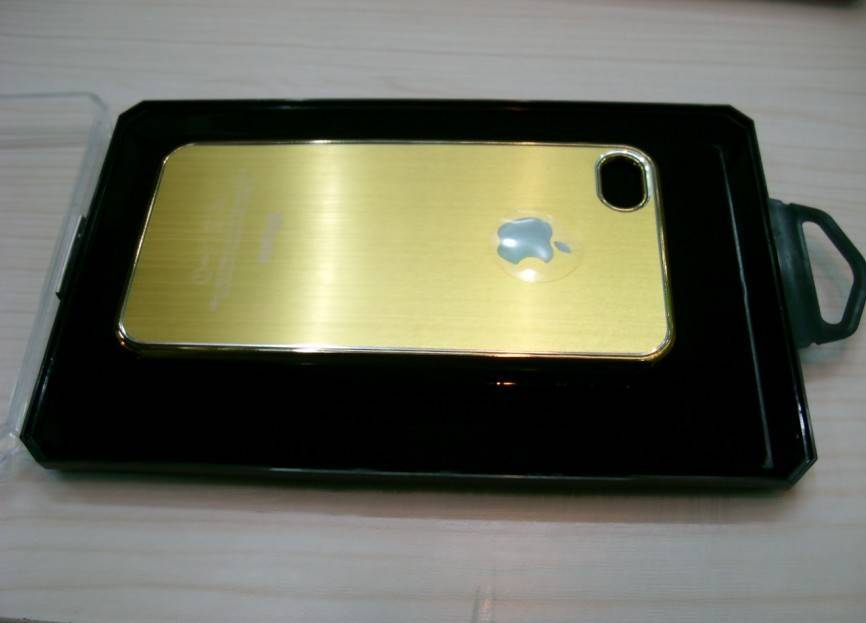 superior quality brushed metal case cover for phone4,mobile Phone case cover,sell Phone sets