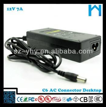 AC cable include NOM certified 12v 7a switch power