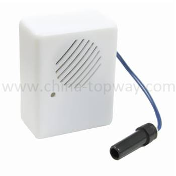 Sound module with motion sensor for pos display