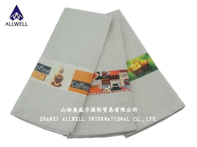 Transfer Printed Waffle Tea Towel