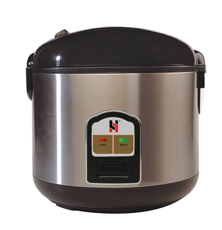Deluxe rice cooker in Stainless steel outbody