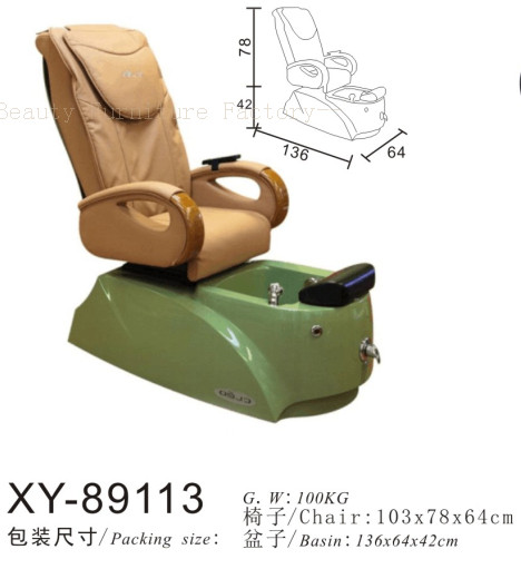 Salon Spa Pedicure Chair Fibreglass Sink XY-89113
