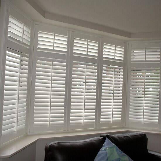 white plantation basswood window shutters