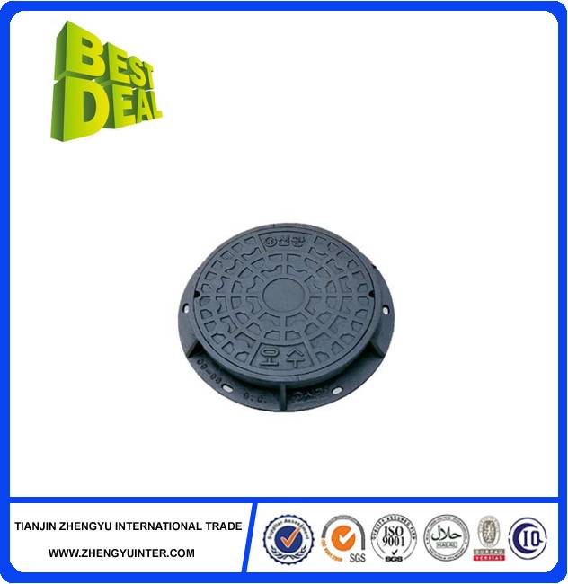 Hot sales good design round ductile iron manhole cover for construction