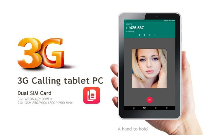 Wholesale 7 inch MT6572 3G Dual Sim Dual Standby Android Phone tablet