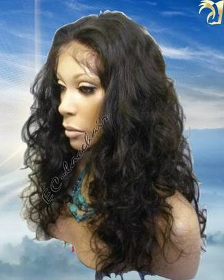 Indian Brazilian Virgin Human Hair Loose Curl Lace Front And Full Lace Wigs Wholesale