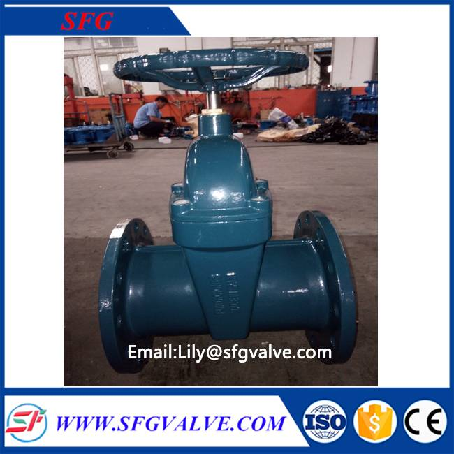 DIN F5 resilent seated gate valve with high quality