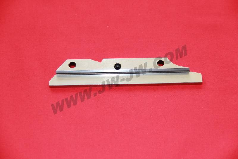 Guide rail for weaving loom parts