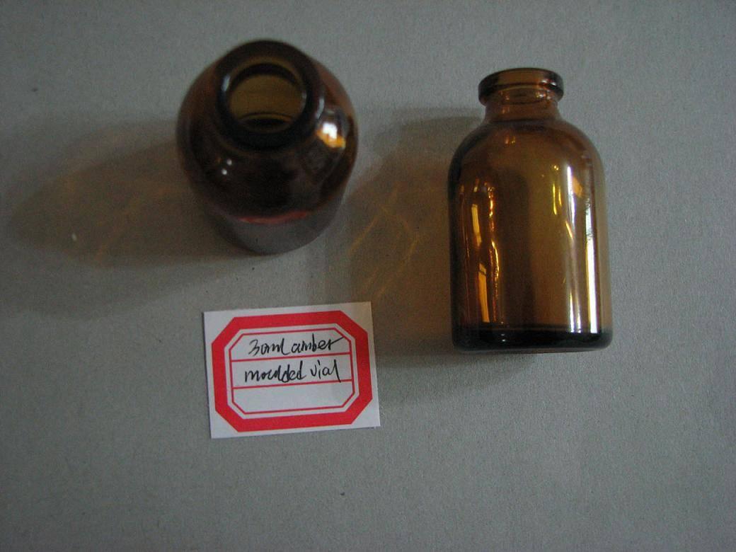 30ml amber moulded vial
