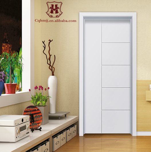 White composite wood pvc door