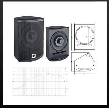 2-way coaxial full range loudspeaker T-151