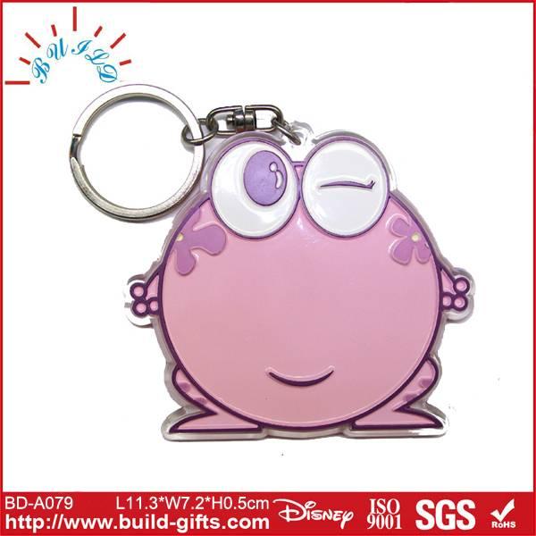 big eyes acrylic key chain