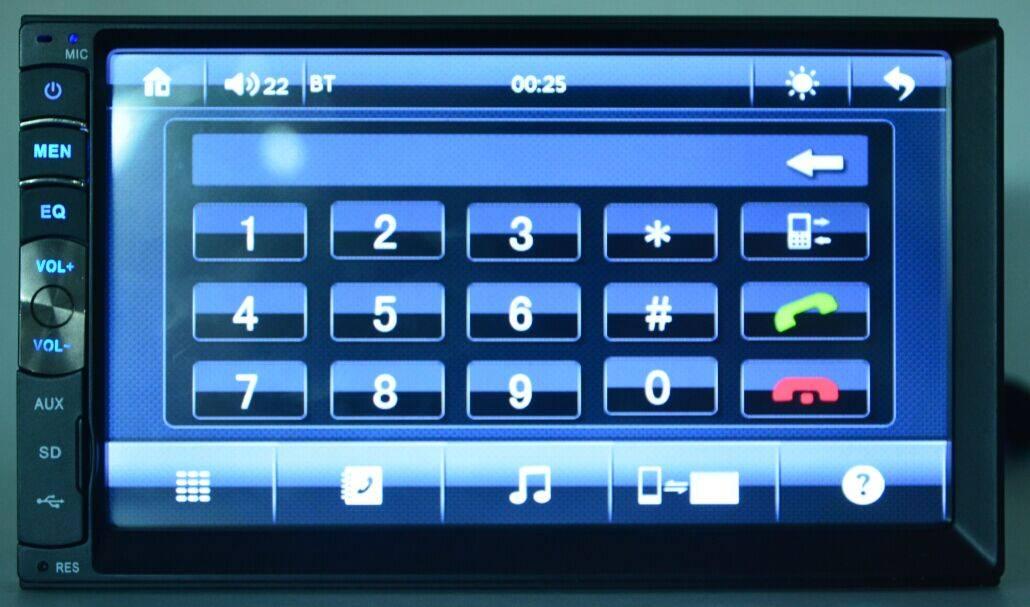 Car MP5 Bluetooth, Radio, GPS, USB/SD/Aux-In, Remote Control