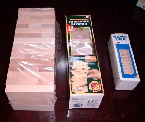 Wooden tumbling blocks