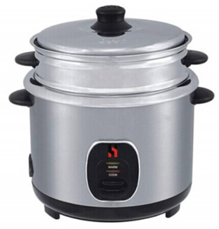 Jointless rice cooker with stainless steel outbody