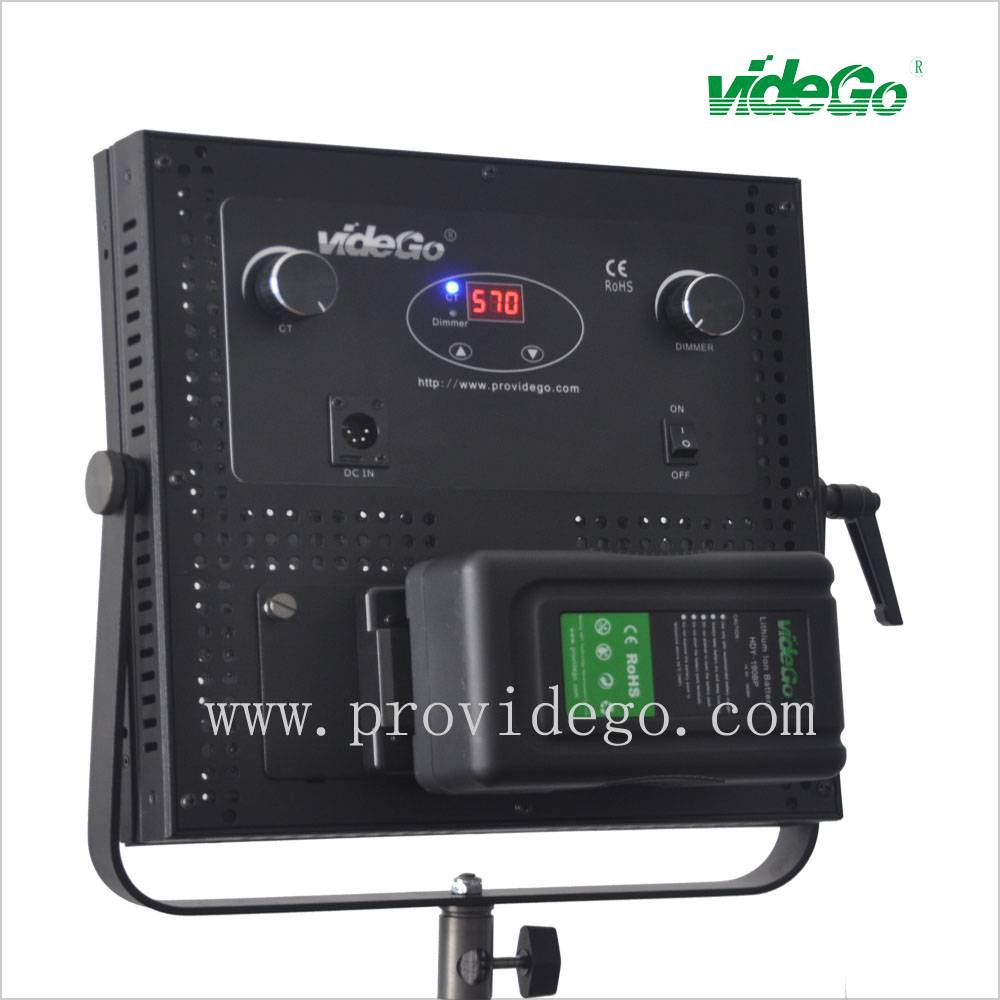videGo bi-color DMX 512 control 11 led video light panel
