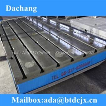 Cast iron surface plate/cast iron table/cast iron t-slots plate