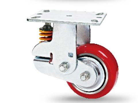 Shock Absorbing Swivel Casters spring loaded casters