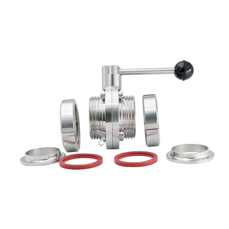 Hygienic Manual Butterfly Valves with Union-Union Ends