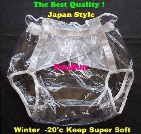 2219-Transparent-JAPAN-INCONTINENCE ADULT DIAPER PLASTIC PANT