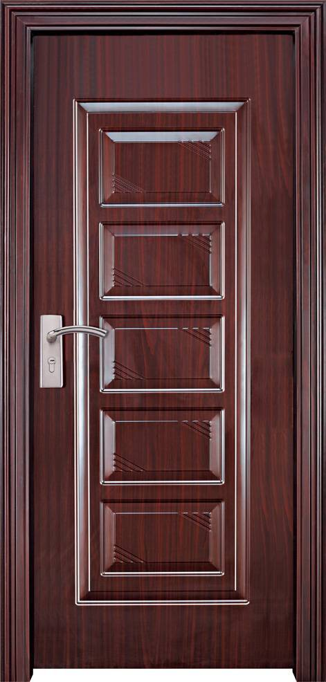Colorful steel doors with pvc film finish JHB-140