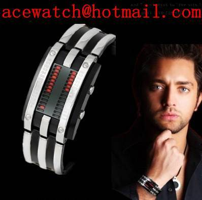 Fashion Men watch digital LED watch 2011 new alloy watchcase