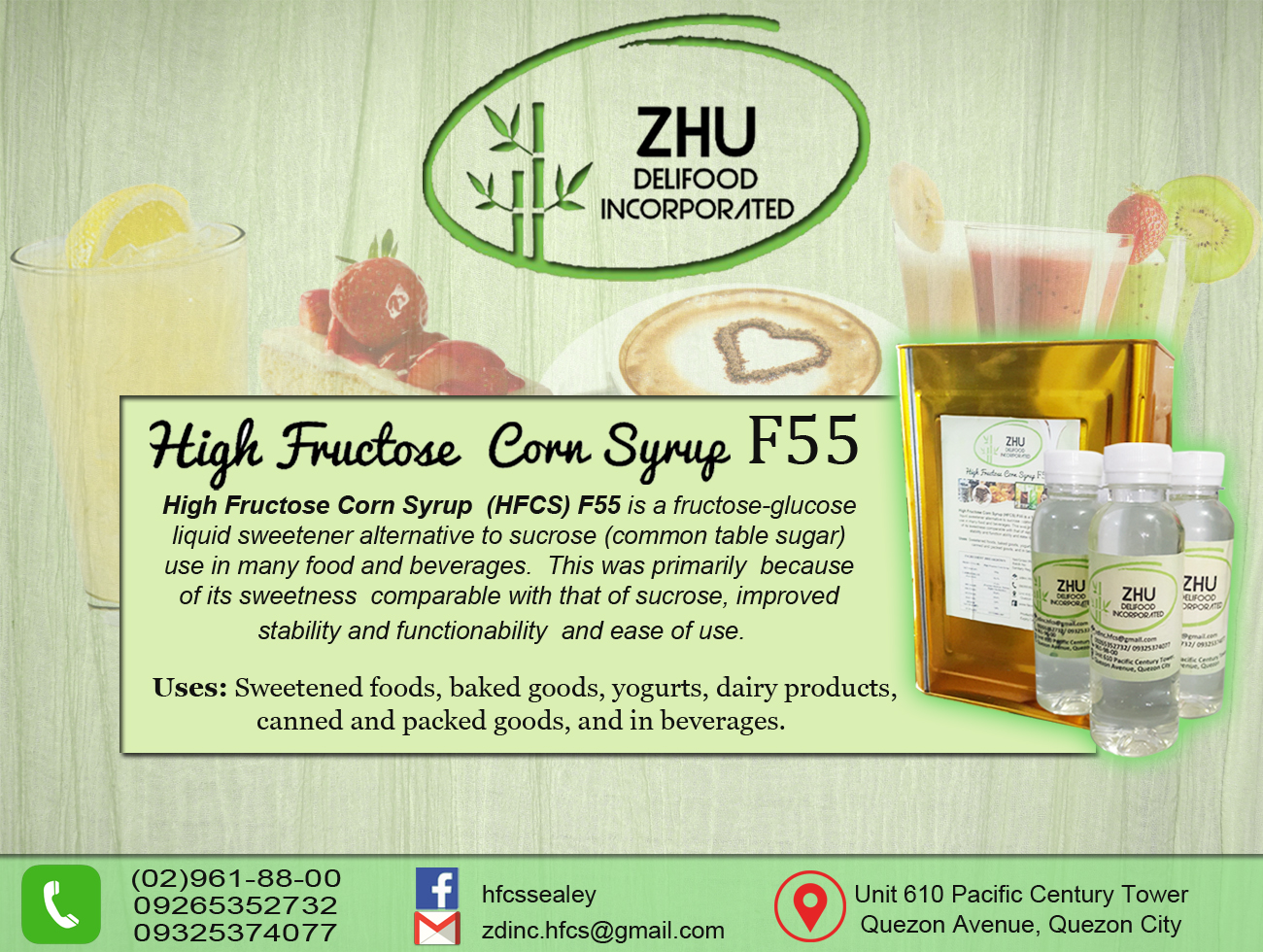 High Fructose Corn Syrup F55