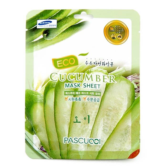 [KOREAN] Amicell Pascucci Skin Care Essence Moisturizing Whitening Eco Mask Cucumber