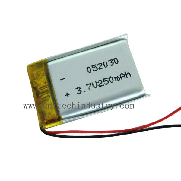Rechargeable 502030 3.7v 250mah li-polymer battery