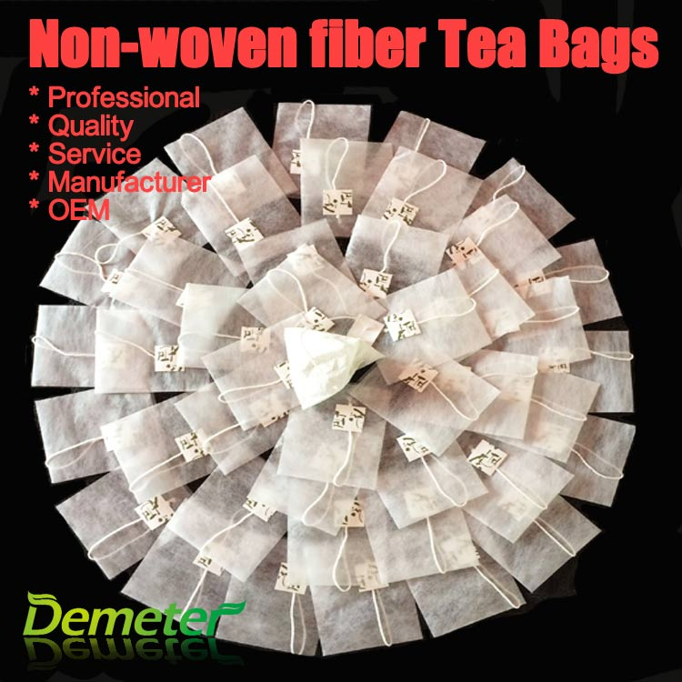 non-woven fabric empty triangle tea bags