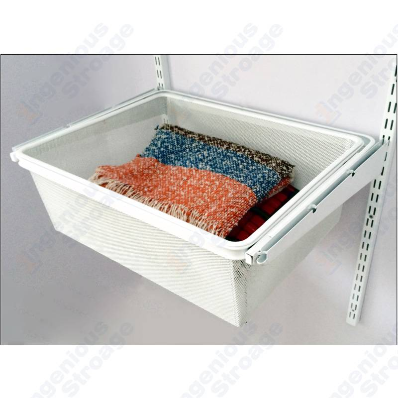 Classic Gliding Wardrobe Mesh Basket Drawer