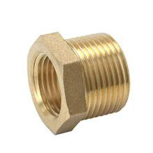 brass plumbing fitting with hex screw and male