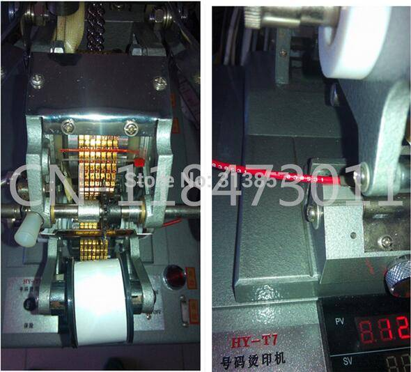 Thermal transfer cable id flatbed printer HY-DT7 cable marker 0.1-0.6 electronic lettering machine