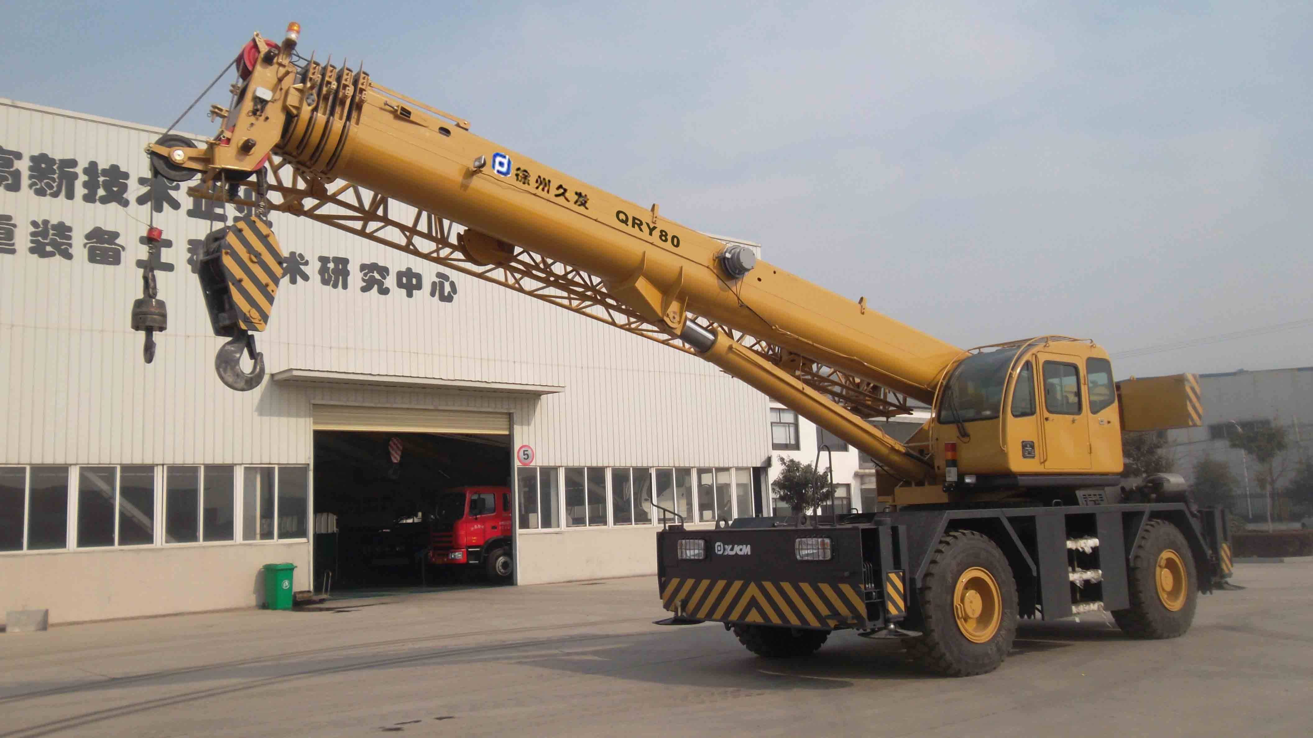 80ton rough terrain crane