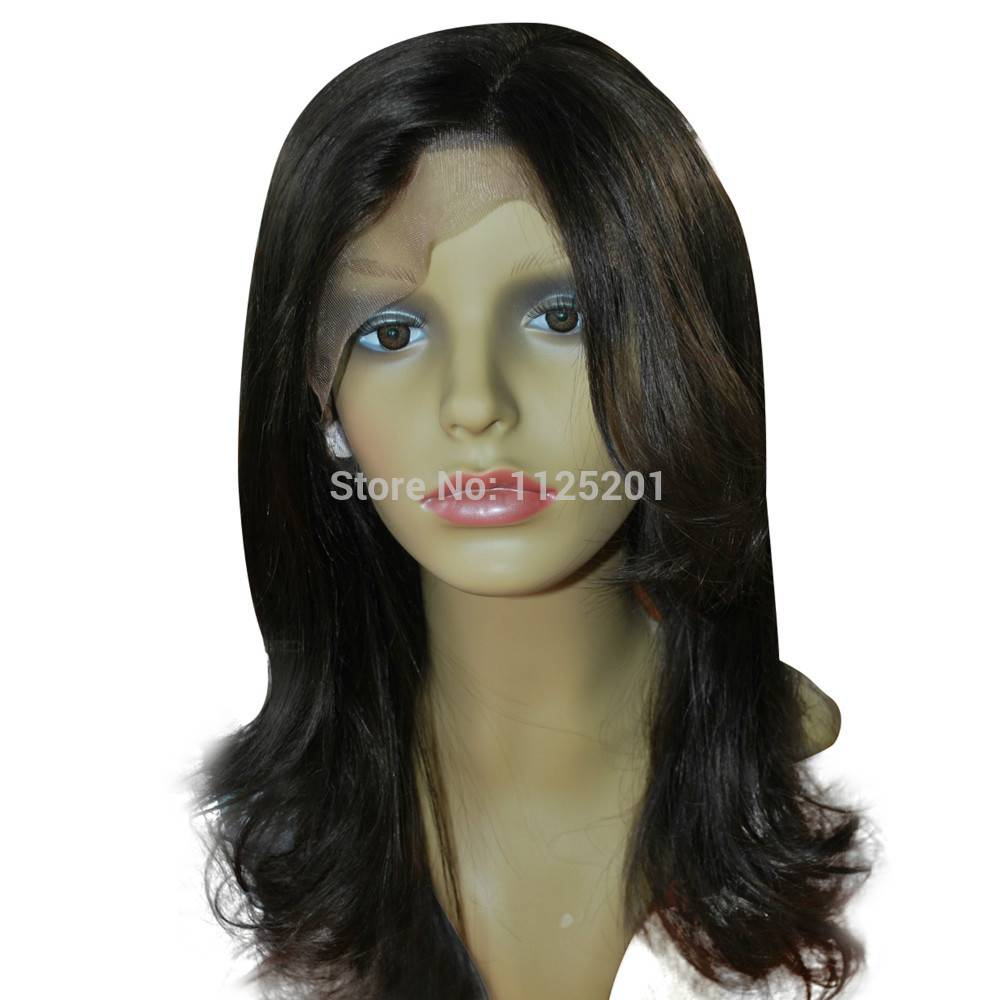 Natural wavy full lace wig 100% real hair hairpiece stock-113 wig for women
