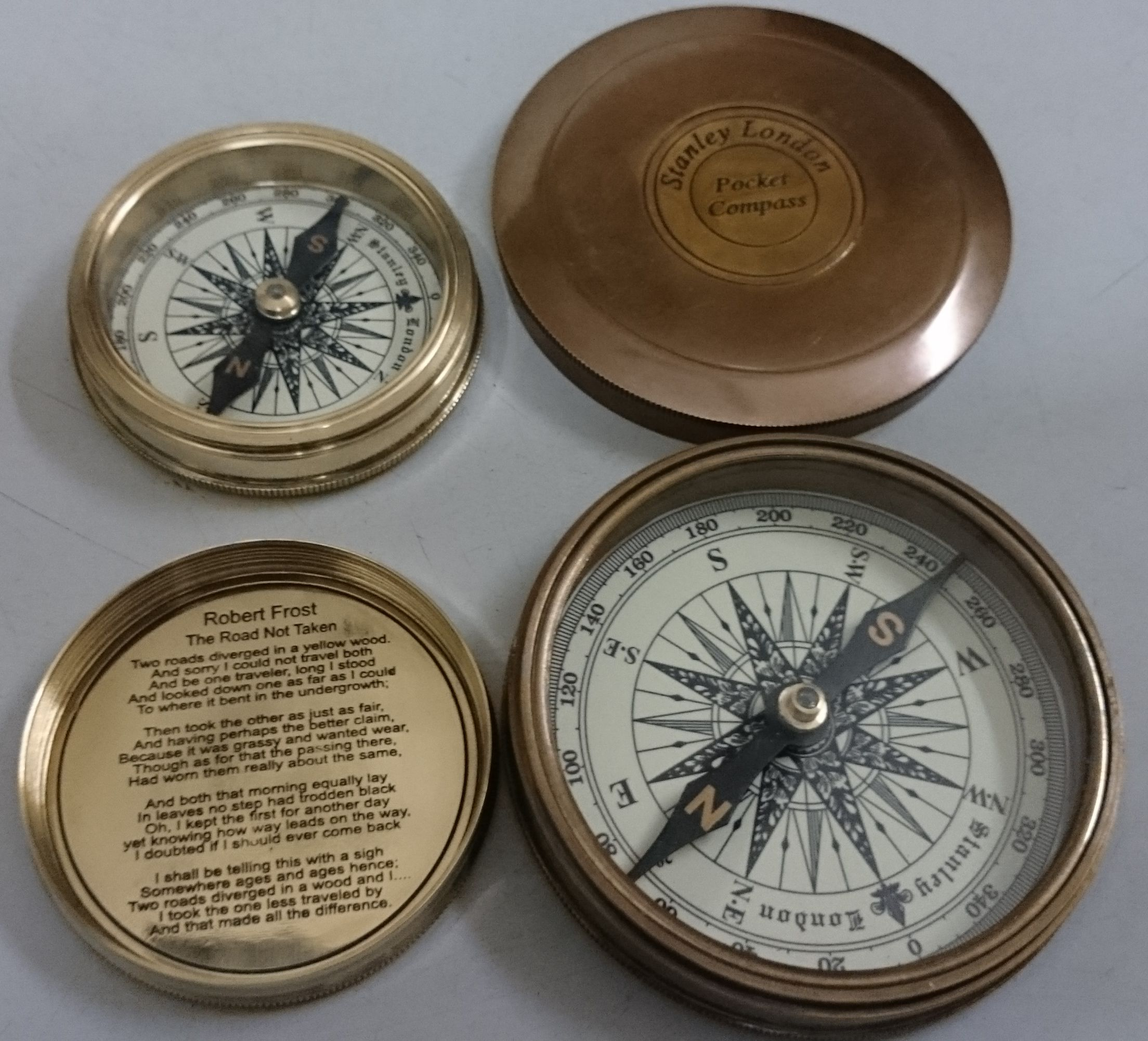 nautical brass compasses
