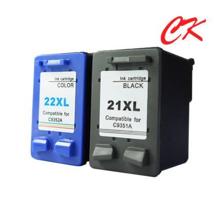 21xl ink cartridge/22xl inks compatible for HP Deskjet 3930/HP Deskjet 3940/HP Fax 1250 /HP Officeje