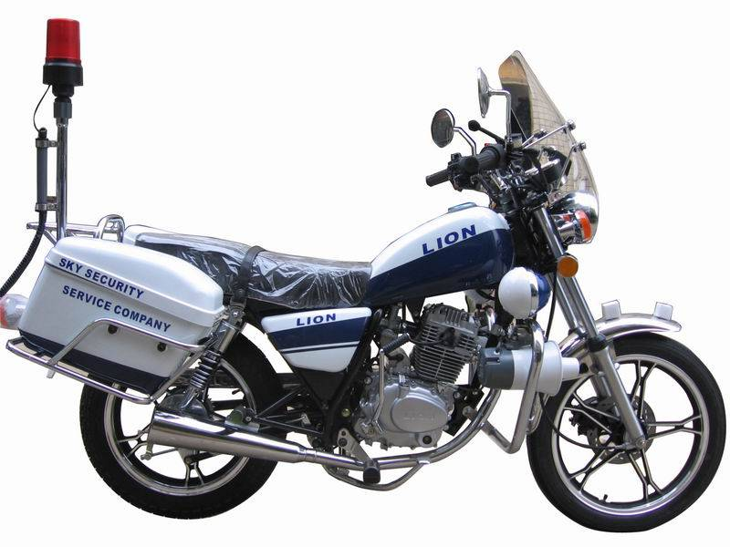 Supply Police Motorcyle WJ125-2J with Suzuki JV Engine