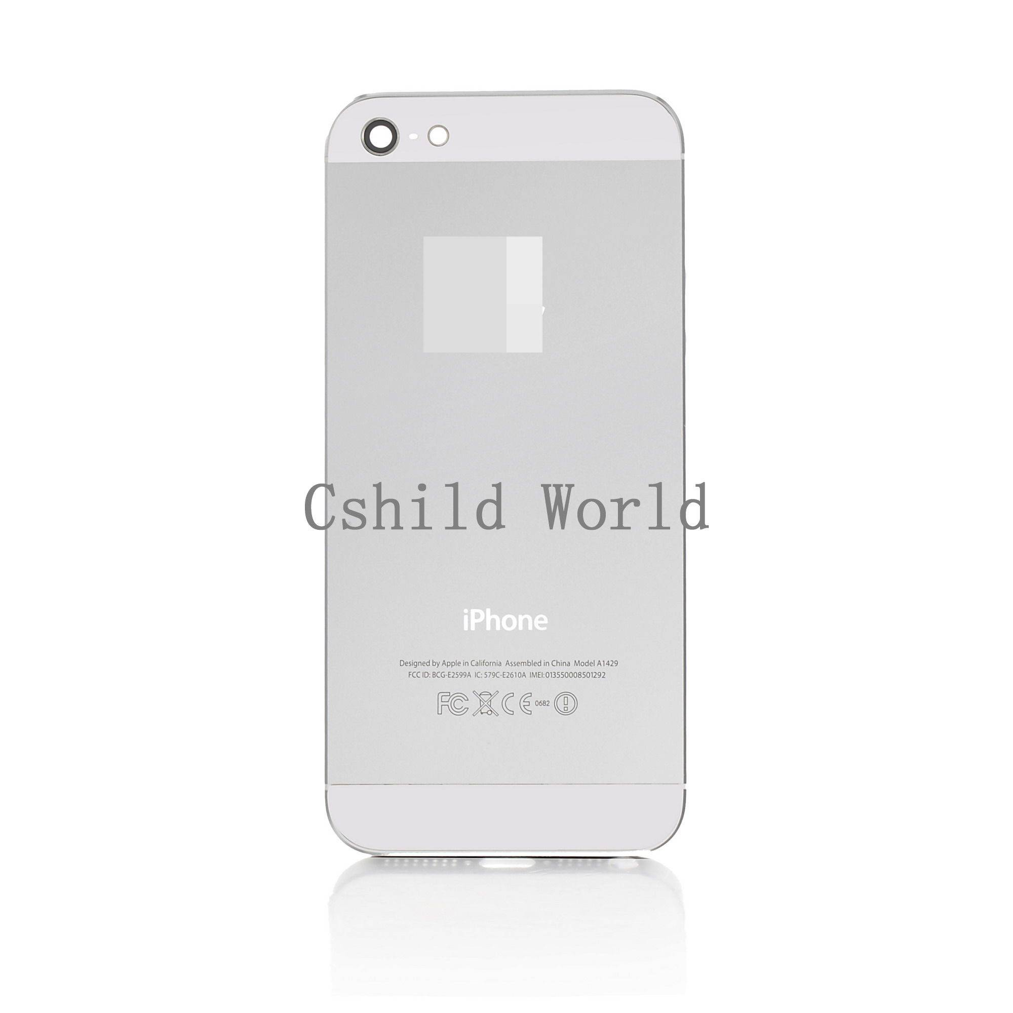 OEM Apple iPhone 5 LCD Screen and Digitizer Assembly with Frame and Home Button - White
