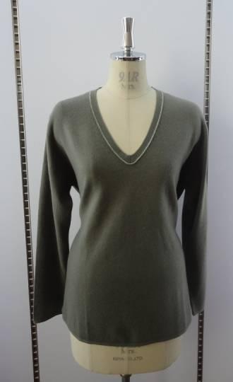 V Neck Cashmere Sweater 51023