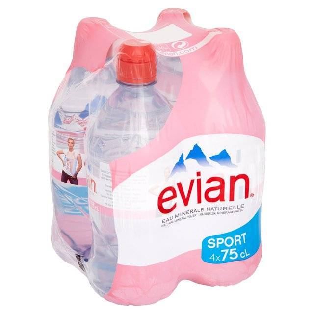 Evians and Vittel Mineral Drinking Water