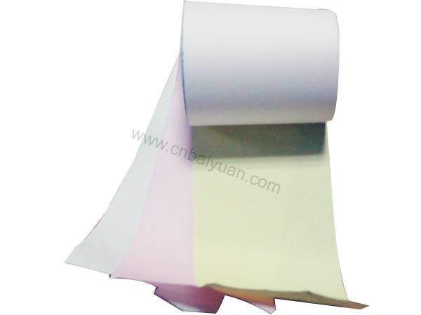 3plys NCR carbonless paper rolls with color white&red& yellow