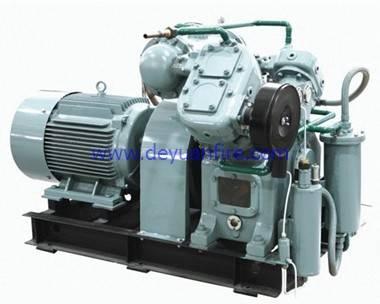 Marine low pressure piston type air compressor
